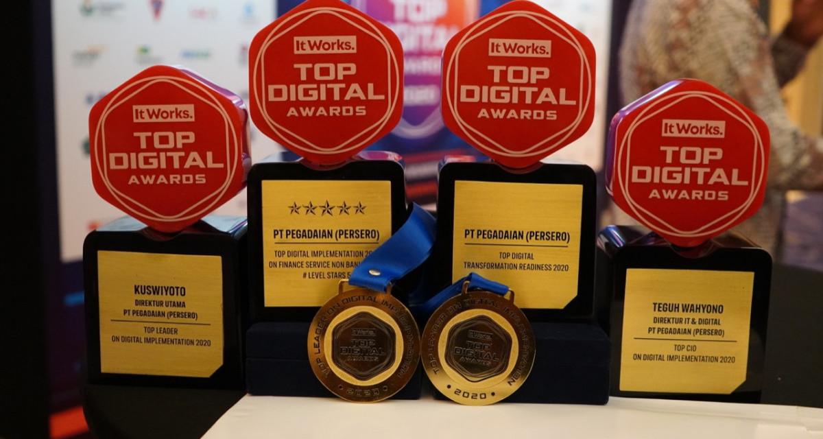 Pegadaian Dominasi Penghargaan TOP DIGITAL Innovation Award 2020